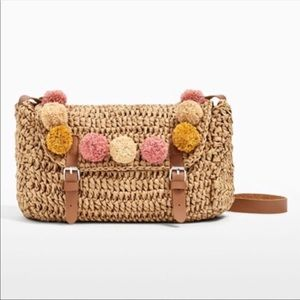 Zara Raffia Crossbody Bag